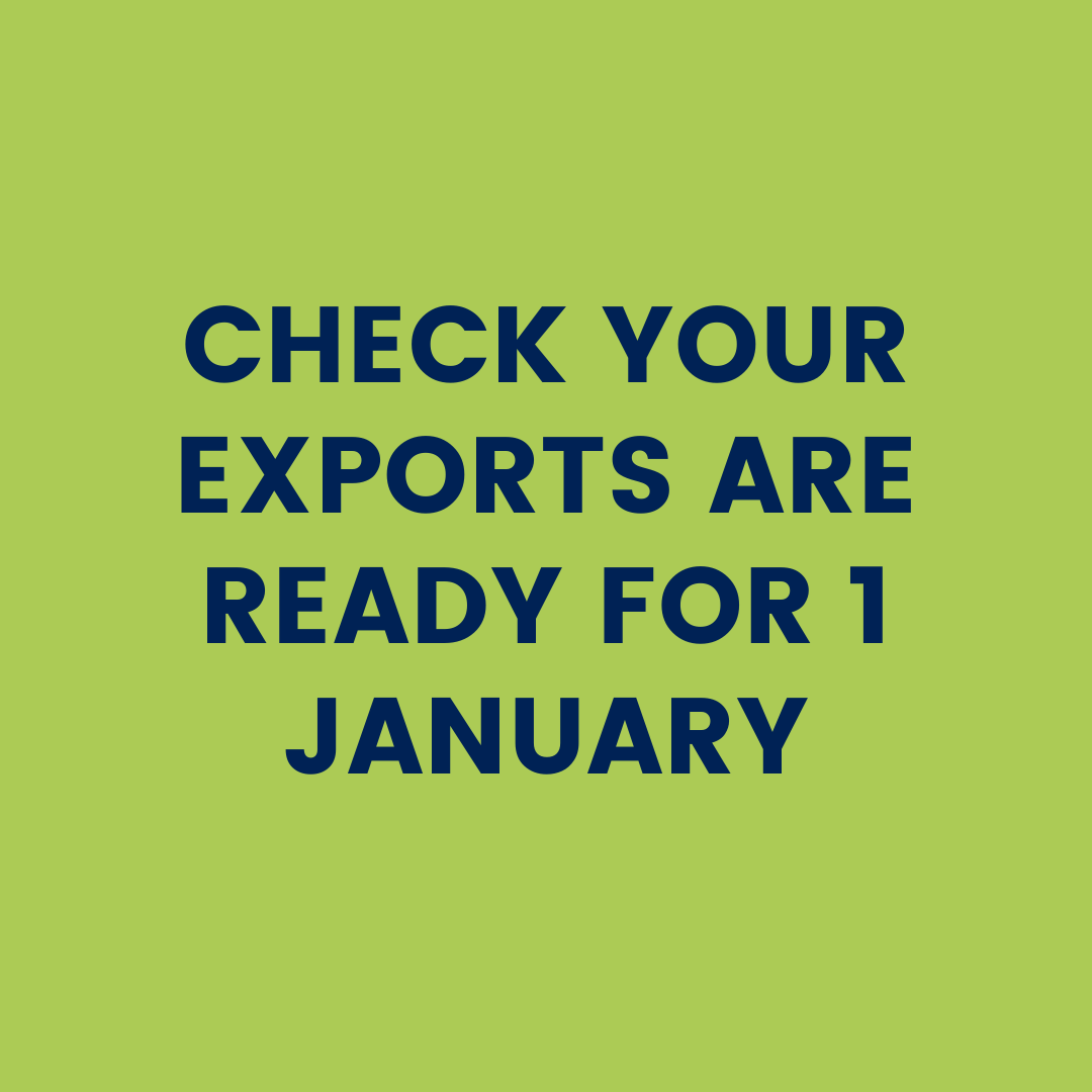 Button - check your exports are ready for 1 January