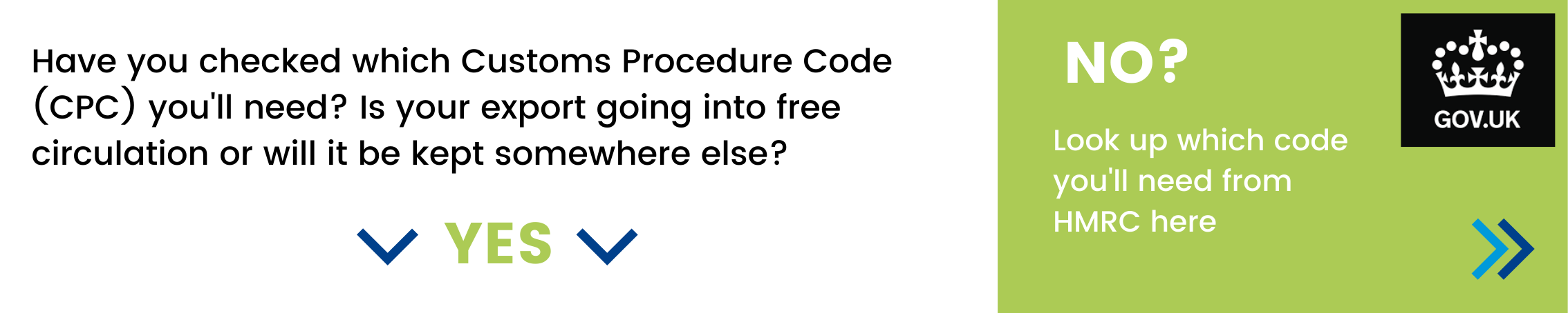 Have you checked which Customs Procedure Code (CPC) you'll need? Is your export going into free circulation or will it be kept somewhere else? Click here to look up which code you'll need from HMRC